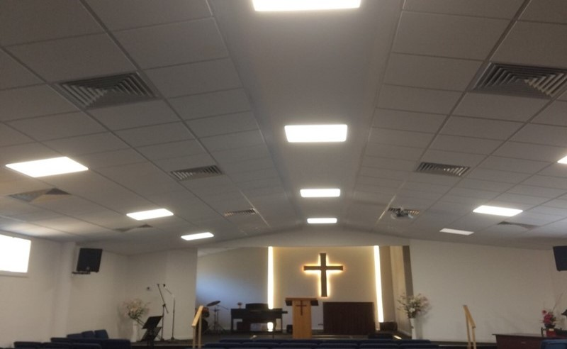 baptist church ceiling victoria - metro office fitouts