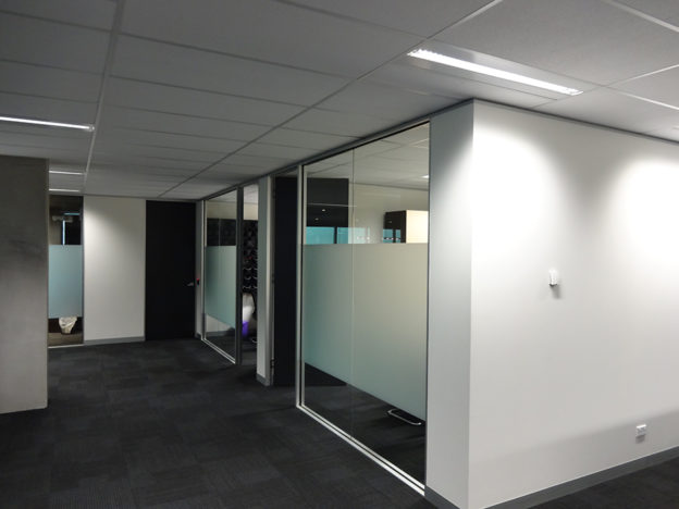 a professionally finished office