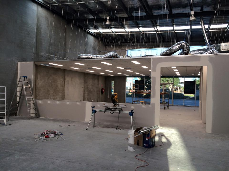 suspended ceiling in factory setting